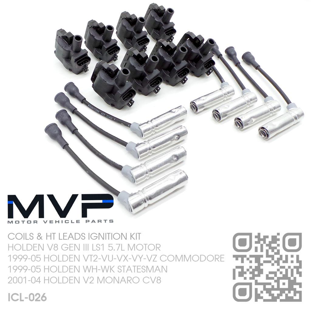 ignition coils  u0026 lead kit v8 gen iii ls1 5 7l  holden wh