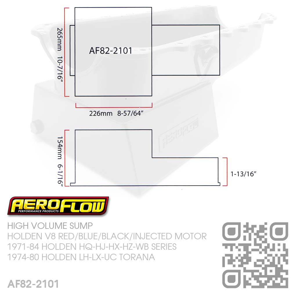 Aeroflow 65l High Volume Sump V8 304 355 Injected Motor Holden Lh Stroker Engine Diagram 3 1 50l 57l Use Hq Wb Oil Pickup Pan Sold Separately