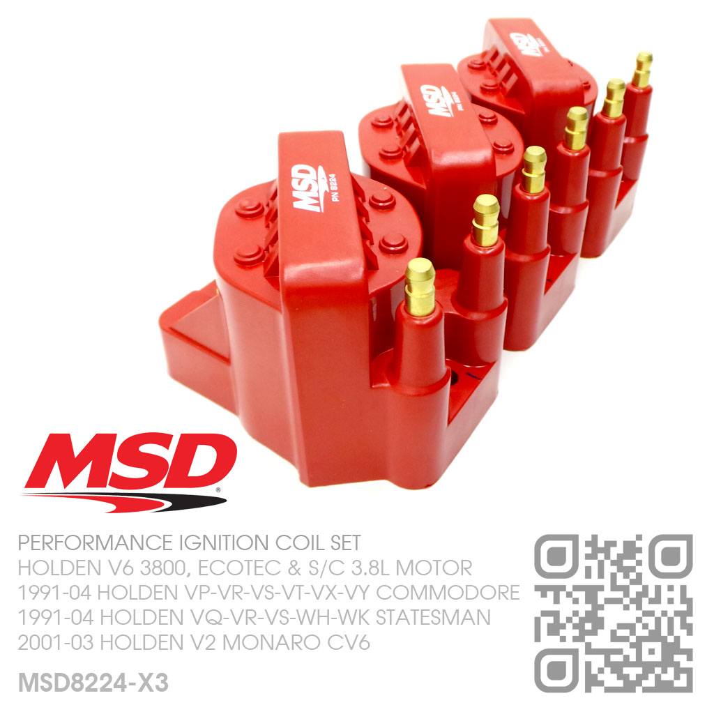 Details about MSD BLASTER IGNITION COIL SET V6 ECOTEC 3 8L [HOLDEN  VS-VT-VX-VY COMMODORE] RED